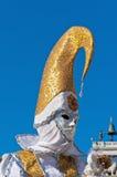 Carnaval anual realizado en Venecia, Italia Foto de archivo