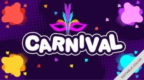 Carnaval avec le fond coloré - vecteur illustration de vecteur