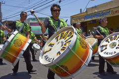 Carnaval-Band - Arica, Chili Royalty-vrije Stock Afbeeldingen