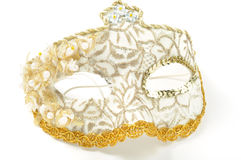 Carnaval beautiful mask. On white background stock image