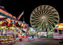 Carnaval bij nacht stock afbeeldingen