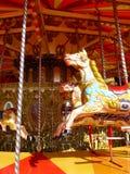 Carnaval: caballo de madera del carrusel Imagen de archivo