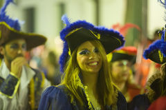 Carnaval chez l'Espagne dans la soirée Photos stock