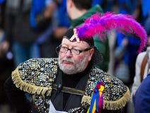 Carnaval chez l'Espagne dans le temps de soirée Photo stock
