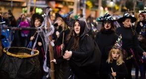 Carnaval chez l'Espagne dans le temps de soirée Photos libres de droits