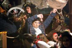 Carnaval chez l'Espagne dans le temps de soirée Image stock