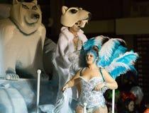 Carnaval chez l'Espagne dans le temps de soirée Sitges, Catalogne Images libres de droits
