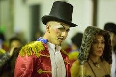 Carnaval chez l'Espagne dans le temps de soirée Sitges, Catalogne Image libre de droits