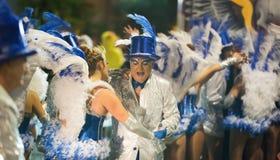 Carnaval chez l'Espagne dans le temps de soirée Sitges, Catalogne Photos stock