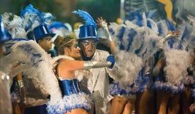 Carnaval chez l'Espagne dans le temps de soirée Sitges, Catalogne Photographie stock libre de droits