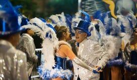 Carnaval chez Sitges dans le temps de soirée l'espagne Photographie stock
