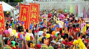 Carnaval colorido del templo en Taiwán Fotos de archivo libres de regalías