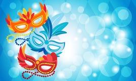 Carnaval colorido Rio Holiday Party Celebration del Brasil de la máscara Imagenes de archivo
