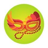 Carnaval colorido Rio Holiday Party Celebration del Brasil del icono de la máscara Imágenes de archivo libres de regalías