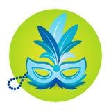 Carnaval colorido Rio Holiday Party Celebration del Brasil del icono de la máscara Fotos de archivo libres de regalías