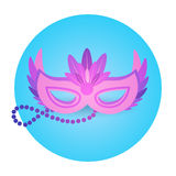 Carnaval colorido Rio Holiday Party Celebration del Brasil del icono de la máscara Foto de archivo