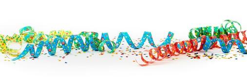 Carnaval-concept met kleurrijke linten stock afbeelding