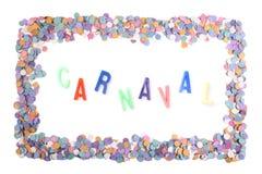 Carnaval confetti rama - portugalczyk (Br) Obrazy Stock