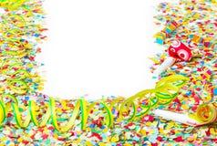 Carnaval, confettien, achtergrond Royalty-vrije Stock Afbeelding
