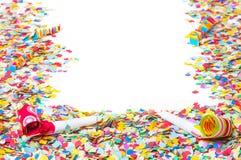 Carnaval, confettien, achtergrond royalty-vrije stock foto
