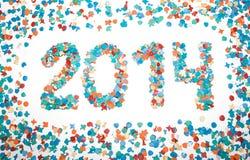 Carnaval 2014 confettis de date d'isolement Photos stock