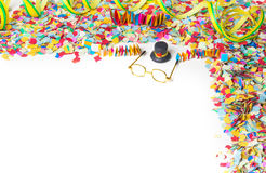 Carnaval, confettis, partie, fond Photographie stock libre de droits