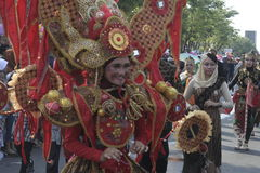 CARNAVAL CULTURE IN DISTRICT SUKOHARJO Royalty Free Stock Image
