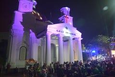 Carnaval 2016 da noite de Semarang Fotografia de Stock Royalty Free