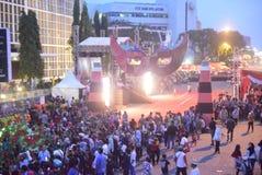 Carnaval 2017 da noite de Semarang Imagem de Stock Royalty Free