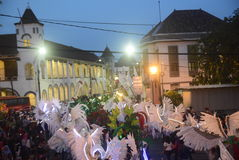 Carnaval 2017 da noite de Semarang Imagens de Stock Royalty Free