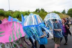 Carnaval da parada do festival dos gigantes em Telford Shropshire Foto de Stock Royalty Free