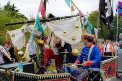 Carnaval da parada do festival dos gigantes em Telford Shropshire Imagem de Stock
