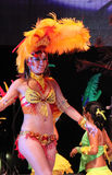 Carnaval 6. A dancer performing on stage at a carnaval in Playa del Carmen, Mexico Stock Photography