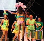 Carnaval 13. Dancers performing on stage at a carnaval in Playa del Carmen, Mexico Stock Photos
