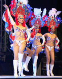 Carnaval 16. Dancers performing on stage at a carnaval in Playa del Carmen, Mexico Royalty Free Stock Image
