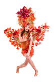 Carnaval-dansersvrouw het dansen Stock Foto