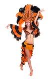 Carnaval-dansersvrouw het dansen Royalty-vrije Stock Foto