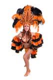 Carnaval-dansersvrouw het dansen Royalty-vrije Stock Fotografie