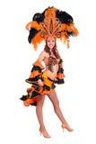 Carnaval-dansersvrouw het dansen Stock Afbeelding