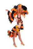 Carnaval-dansersvrouw het dansen Royalty-vrije Stock Afbeelding