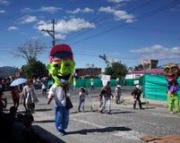 Carnaval de布兰科斯y内格罗斯岛在Chachagui 库存照片