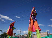 Carnaval de布兰科斯y内格罗斯岛 库存图片