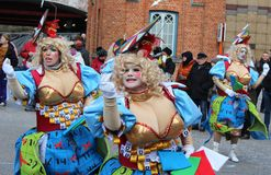 Carnaval de Aalst dos dançarinos Fotografia de Stock