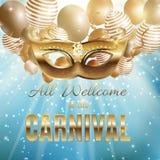 Carnaval-de Achtergrond van de de Vakantieaffiche van het Partijmasker Vectorillustrati Stock Foto