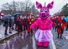 Carnaval 2017 de Basilea Fotos de archivo libres de regalías