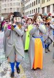 Carnaval de Basileia - flautista fotografia de stock