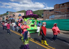 Carnaval de Blancos y Negros in Chachagui Royalty Free Stock Photos