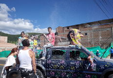 Carnaval de Blancos y Negros Royalty Free Stock Images