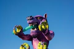 Carnaval de chariot à Nice photo stock