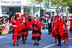 Carnaval de Chipre, cheio das cores e do divertimento Fotos de Stock Royalty Free
